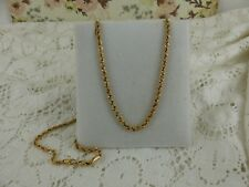 14ct 14carat 585 Yellow Gold Solid Linked Rope Chain 9 grams 20''.