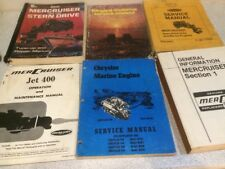 Damaged Incomplete Mercruiser Chrysler Service Maintenance Boat Manuals