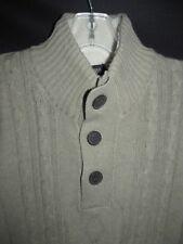 Tricots St Raphal NEW Latte Cottonblend Cable Fishermen Sweater Men's L T5