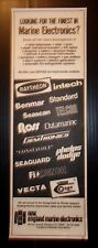 1976 New England Marine Electronics Advertisement Cranston, Rhode Island
