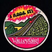 Vtg Valleyfair I rode It! Button Pin Rollercoaster Shakopee Minnesota Souvenir