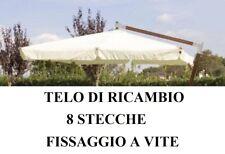 TOP TELO DI RICAMBIO OMBRELLONE DECENTRATO LEGNO 3x4 CON AIRVENT ECRU 380GR/MQ