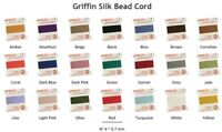 Beading Thread Griffin Natural Silk Bead Cord Size #6