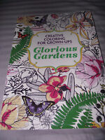 BRAND NEW Adult Coloring Book Glorious Gardens Creative Coloring For Grown-Ups