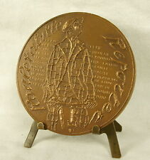Medalla Gaston Leroux ROULETABILLE Reportero sc Despierre 68mm Mister Flow Medal