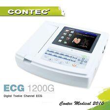 Digital 12 channels ECG EKG Machine electrocardiograph PC SOFTWARE ECG1200G