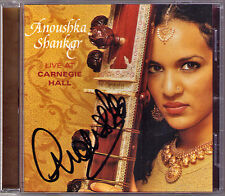 Anoushka SHANKAR Signed LIVE AT CARNEGIE HALL Raga Mishra Piloo Madhuvanti SITAR