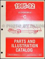 1992 1991 1990 Olds 98 Regency Parts Book OEM Oldsmobile Master Parts Catalog