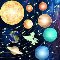 98 PCS Glow in The Dark Stars and Planets Stickers Solar System Wall Stickers Ce
