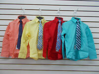 Boys Nautica $32 Assorted Dress Shirts w/ Clip-On Ties Size 4 - 20