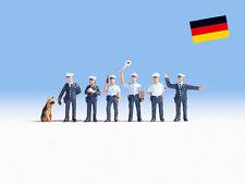 Police Officers & Dog (Blue Uniform) - OO/HO figures - Noch 15091 - free post