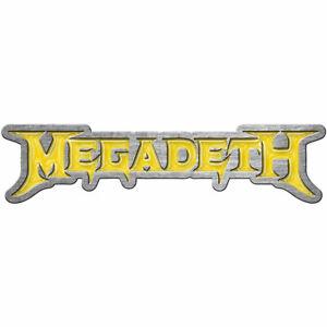MEGADETH - YELLOW LOGO - LAPEL/HAT PIN - BRAND NEW - MUSIC PB090