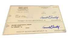 VIN SCULLY SIGNED PERSONAL CHECK AUTOGRAPHED RARE!  BASEBALL HOF
