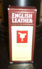 3.4 Fluid Ounces English Leather After Shave in Box. Full Bottle!