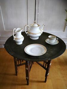 Antiquität: Ur-Omas Kaffee-Service mit Goldrand, 25-teilig, gebraucht