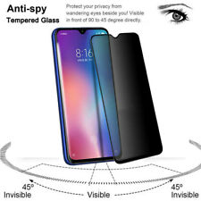 1x Privacy Anti-Spy Tempered Glass Screen Protector Film For Xiaomi Redmi Note 7
