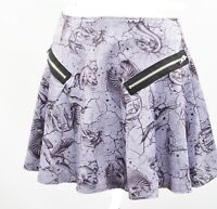 Purple Mermaid Mini Skirt XS S M L XL Skater Pegasus Skater Dragon Pheonix Goth