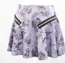 Purple Mermaid Mini Skirt XS S M L XL Skater Pegasus Skater Dragon Pheonix Goth