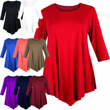 Viscose 3/4 Sleeve Tunic Regular Size Dresses for Women