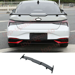 FOR Hyundai Elantra 2021-22 N-Line style black Rear Tail Trunk Spoiler Wing Lip