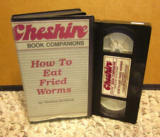 HOW TO EAT FRIED WORMS Thomas Rockwell VHS adaptation 1985 kids challenge