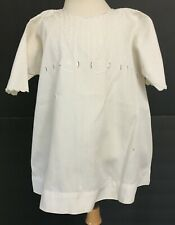 Vintage Toddlers Girls Off White Dress Victorian with Embroidery & Eyelets