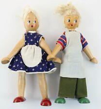 2 Poland Blonde Girl Wood Dolls Christmas Ornament Holiday Decoration