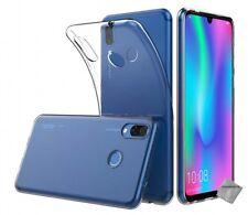 Housse etui coque silicone gel Huawei P Smart (2019) + film ecran TRANSPARENT TP