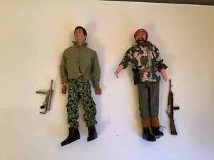 Vintage Palitoy Action Man Figure With Outfit X2