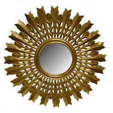 "Wall Mirror Wooden Frame Gold 35.5""-Decorative Wall Decor -Wall Mirror -Accent"