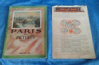 Vintage Books PARIS BY PICTURES Hachette 1953 Paris By Night Tours Advertising