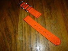 Quality Nylon NATO Orange 2 Piece Militay Watch Strap 18mm Fitting £4.99 ******