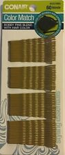 CONAIR 55578WG BLONDE HAIR 60 TOTAL COLOR MATCH BOBBY PINS SMOOTH COATED $0 SHIP