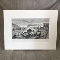 Old Paddle Steamer Lower Missouri River Antique Print  Ca. 1890