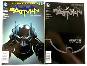 DC Comics BATMAN (New 52) #24-25 Zero Year NEWSSTAND UPC Variant LOT Ships FREE!