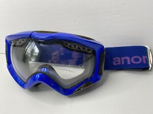 Dark Blue Anon Goggles With Purple Lettering. Cool Pair