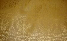 Vinyl FAUX LEATHER Gold Parisian Embossed Damask Drapery fabric by the yard 55""