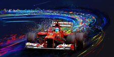 Motorsport automotive racing art  FERNANDO ALANSO 2012 F1 FERRARI CANVAS PRINT