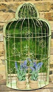 Garden Mirror Green Cage Design Fix to Wall Or Fence Attractive Garden Feature
