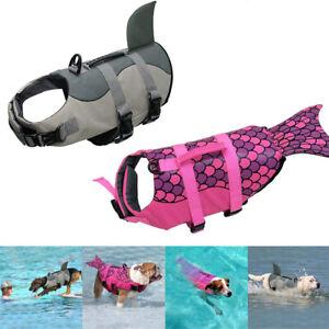 Vest Mermaid Shark Puppy Surf Saver Coat Dog Life Jacket Pet Safety Clothes