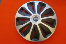 4 Alu-Design Radkappen 16 Zoll PLATIN silber/black  für Ford