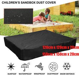 Large Sandpit Cover Bench Seat Ball Sand Oxford Waterproof Pit Sandbox Square UK