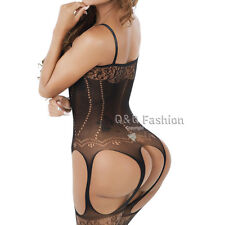 Erotic Fishnet Corset Nightie Leotard Body Suit Stocking Lingerie Babydoll Teddy