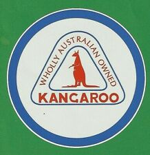"/""KANGAROO AUSTRALIAN/"" PETROL OIL LOGO GARAGE GAS STATION PROMO STICKER DECAL"