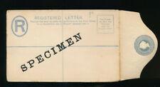 Bahamas, 2,- Pence Ganzsachen-Reco-Umschlag Aufdruck Specimen, (3)  (S4)