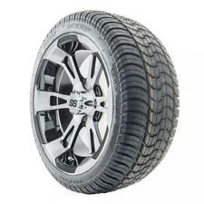 """Golf Cart Wheels and Tires Combo - 14"""" RHOX SS RX340 w/ Low Pro Tires - Set of 4"""