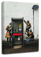 Banksy Canvas Wall Art Picture Print Graffiti Telephone Spy Peace Love Hope