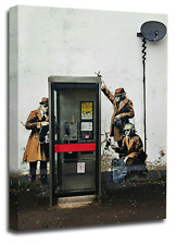 BANKSY Art Picture Print Graffiti Telephone Spy Peace Love Abstract Wall Canvas