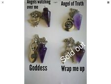 Code 839 Amethyst Infused Pendulum Choice of 1 Watching, Truth, Goddess or Wrap