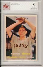 1957 TOPPS #256, RON KLINE, BVG GRADED 8 NM-MT,  DEAD CENTERED, SUPER CARD